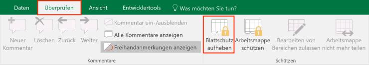 Excel-Blattschutz-aufheben