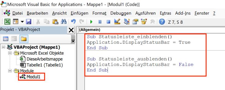 Excel-Statusleiste-aus-einblenden