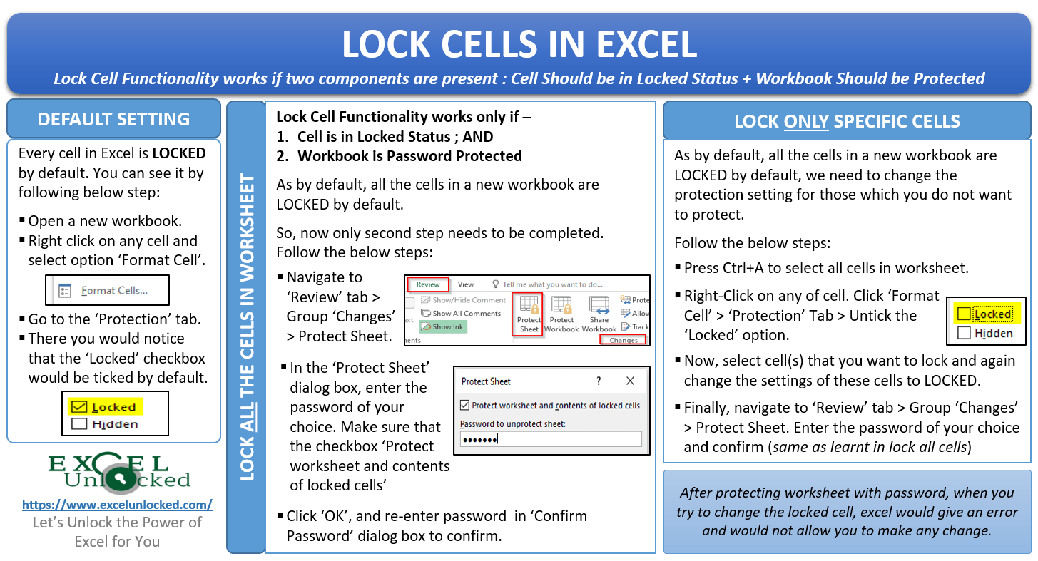 How To Lock And Protect The Cells In Excel