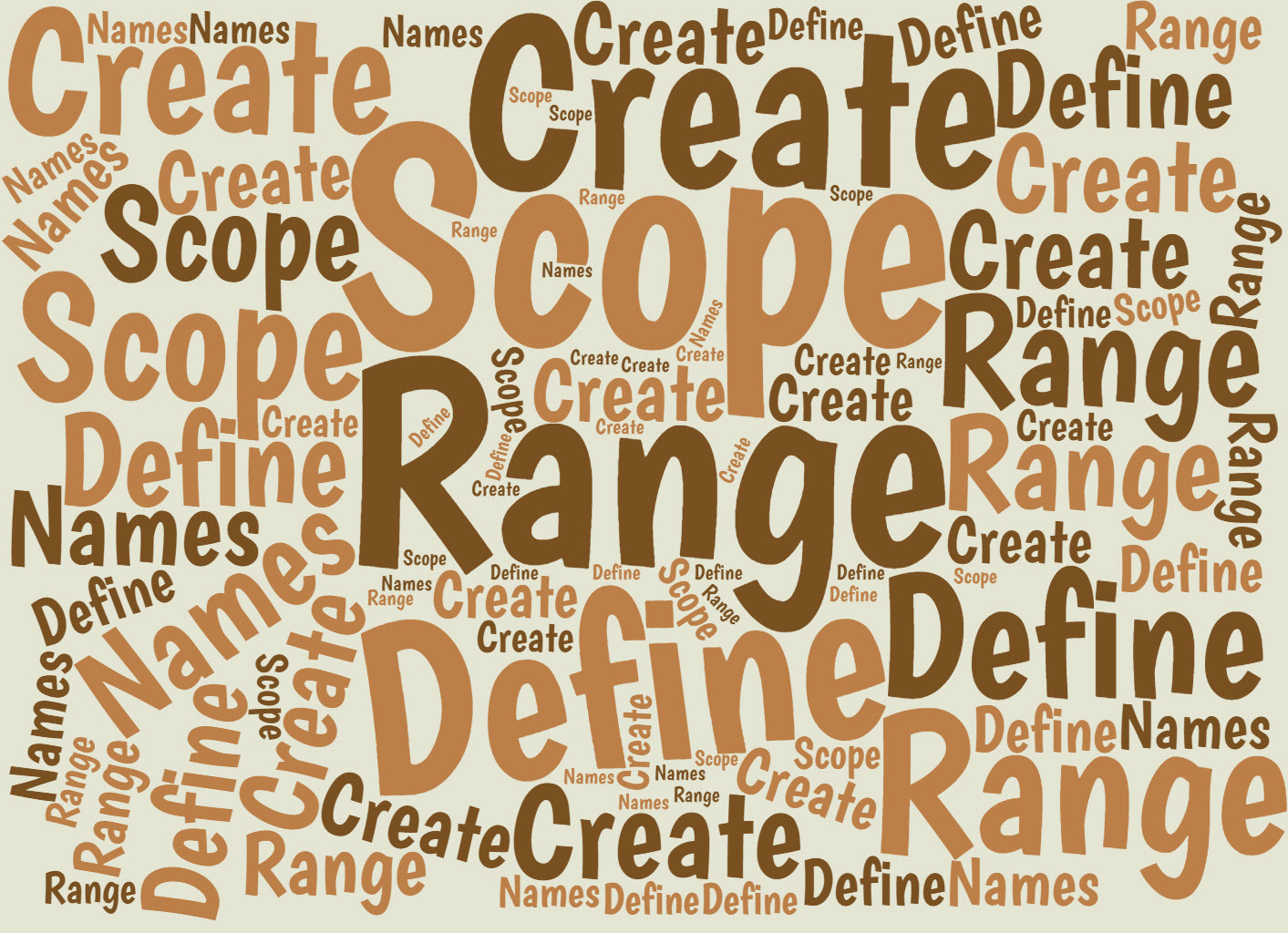 How And Why To Define Excel Range Names With A Worksheet