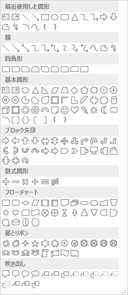 オートシェイプの種類を表す定数