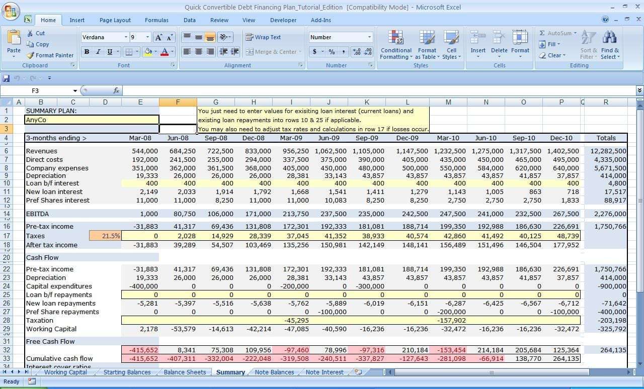 Cash Flow Excel Spreadsheet Template Cash Flow Spreadsheet