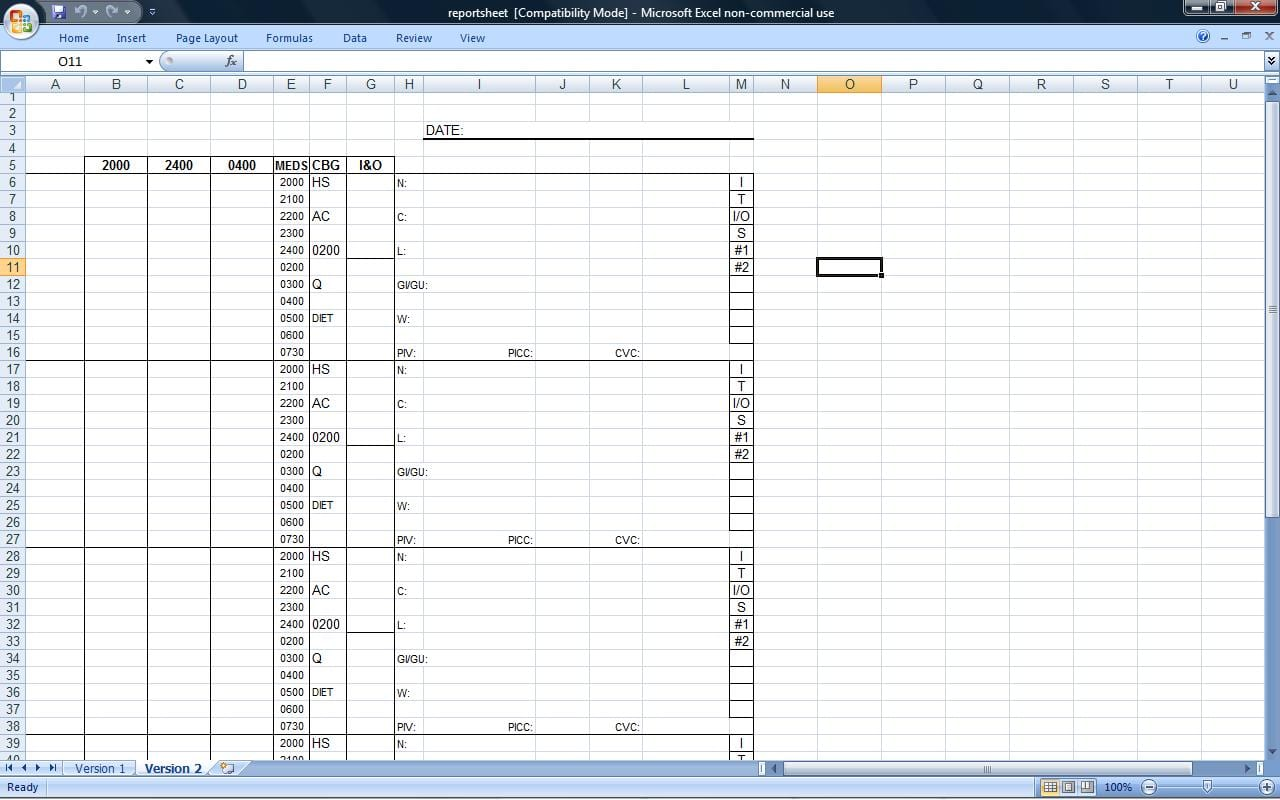 Time Management Spreadsheet Template Management