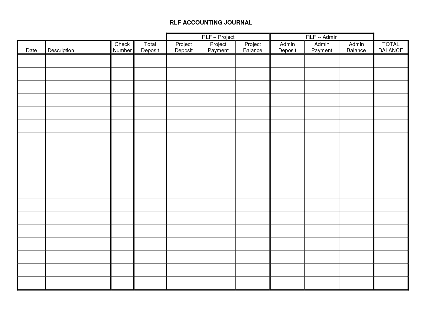 Accounting Journal Entries Accounting Journal Template