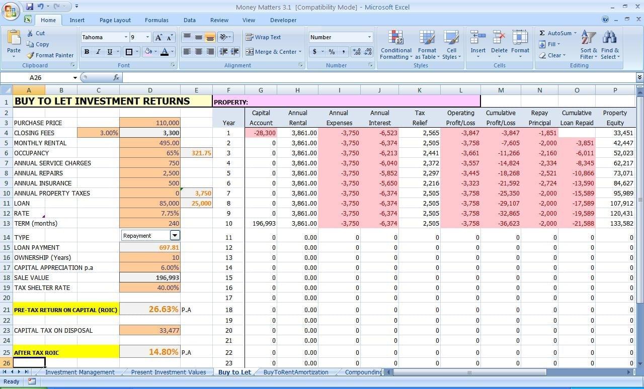 Personal Finance Spreadsheet Template