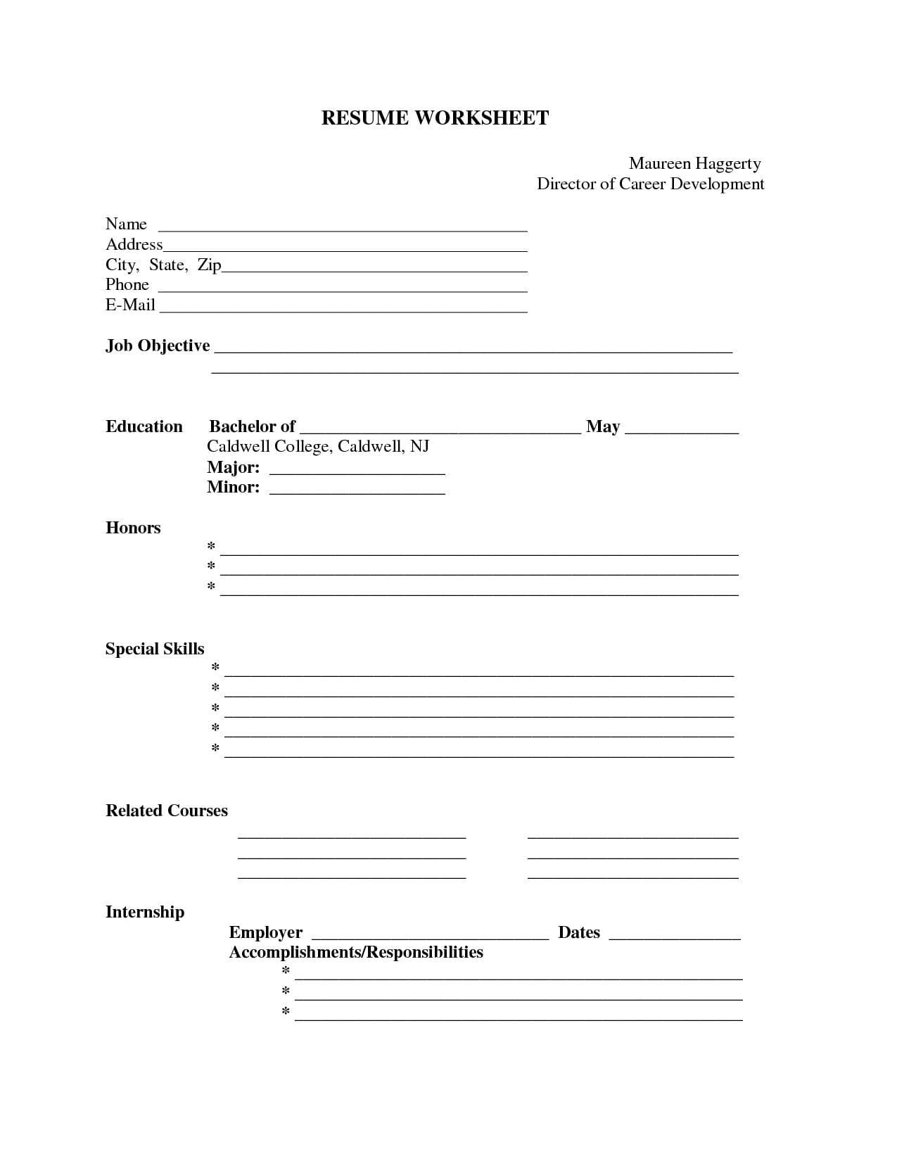 Blank Worksheet Templates For Teacher Blank Worksheet