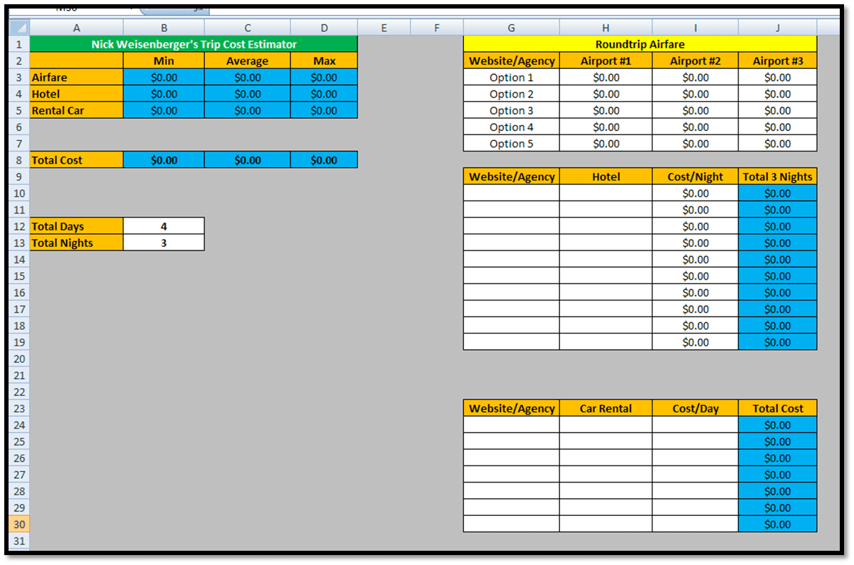 Calculate Worksheet Only