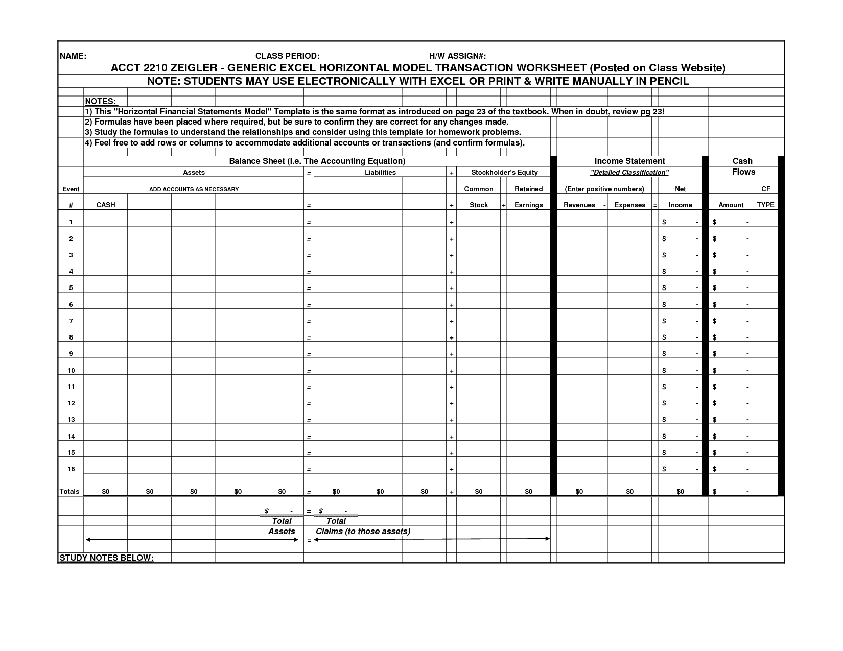 Accounting Spreadsheet Templates