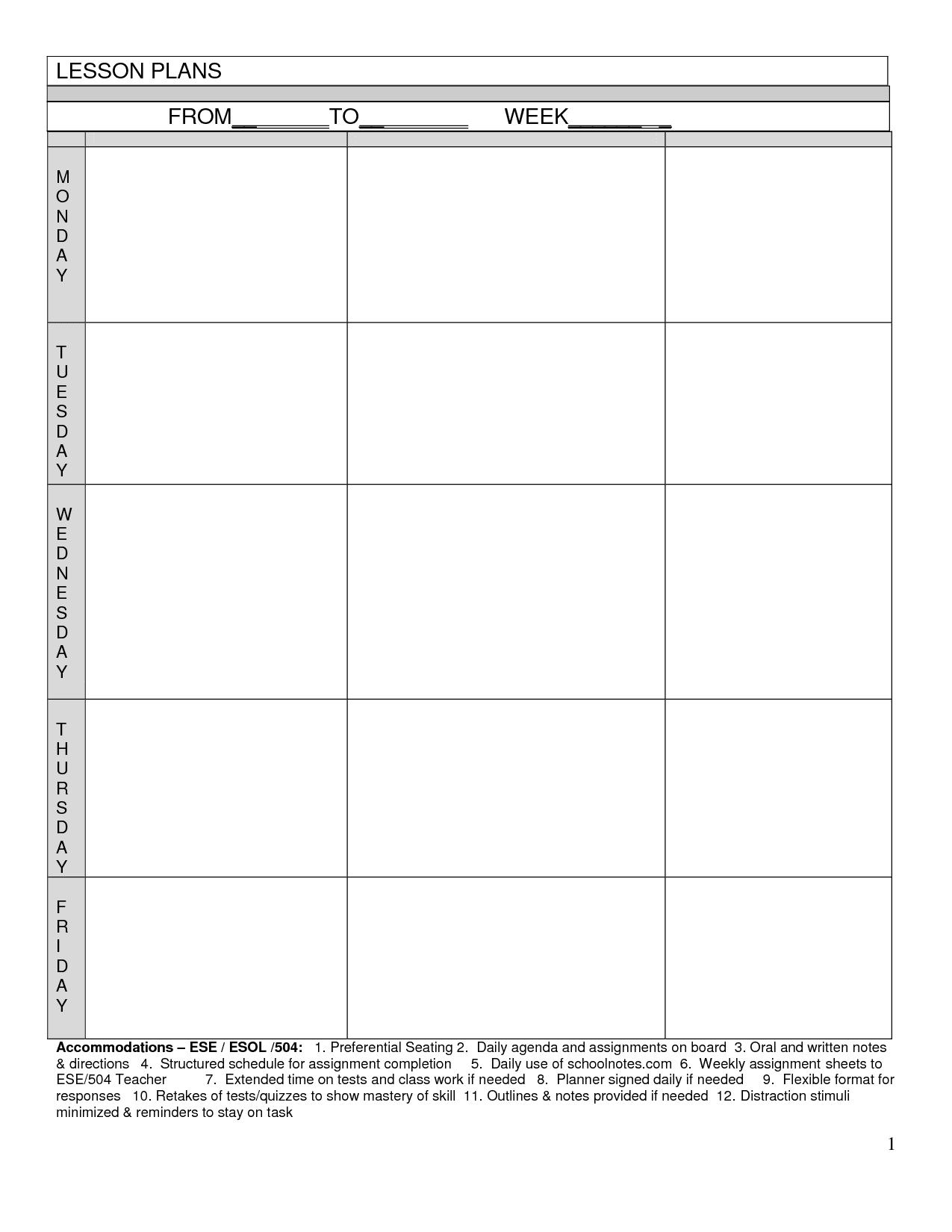 Blank Worksheet Templates