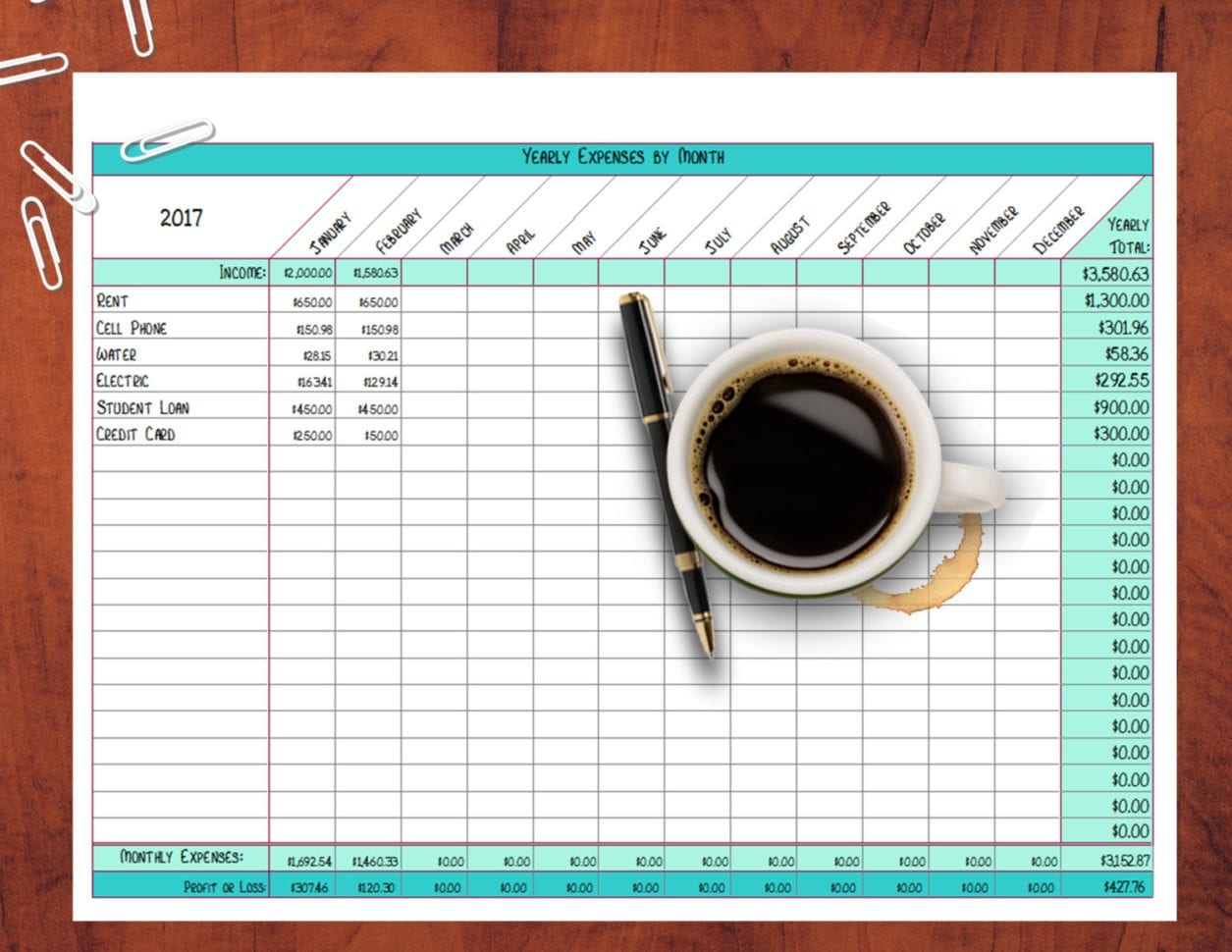 Small Business Accounting Template Excel Accounting Sheets