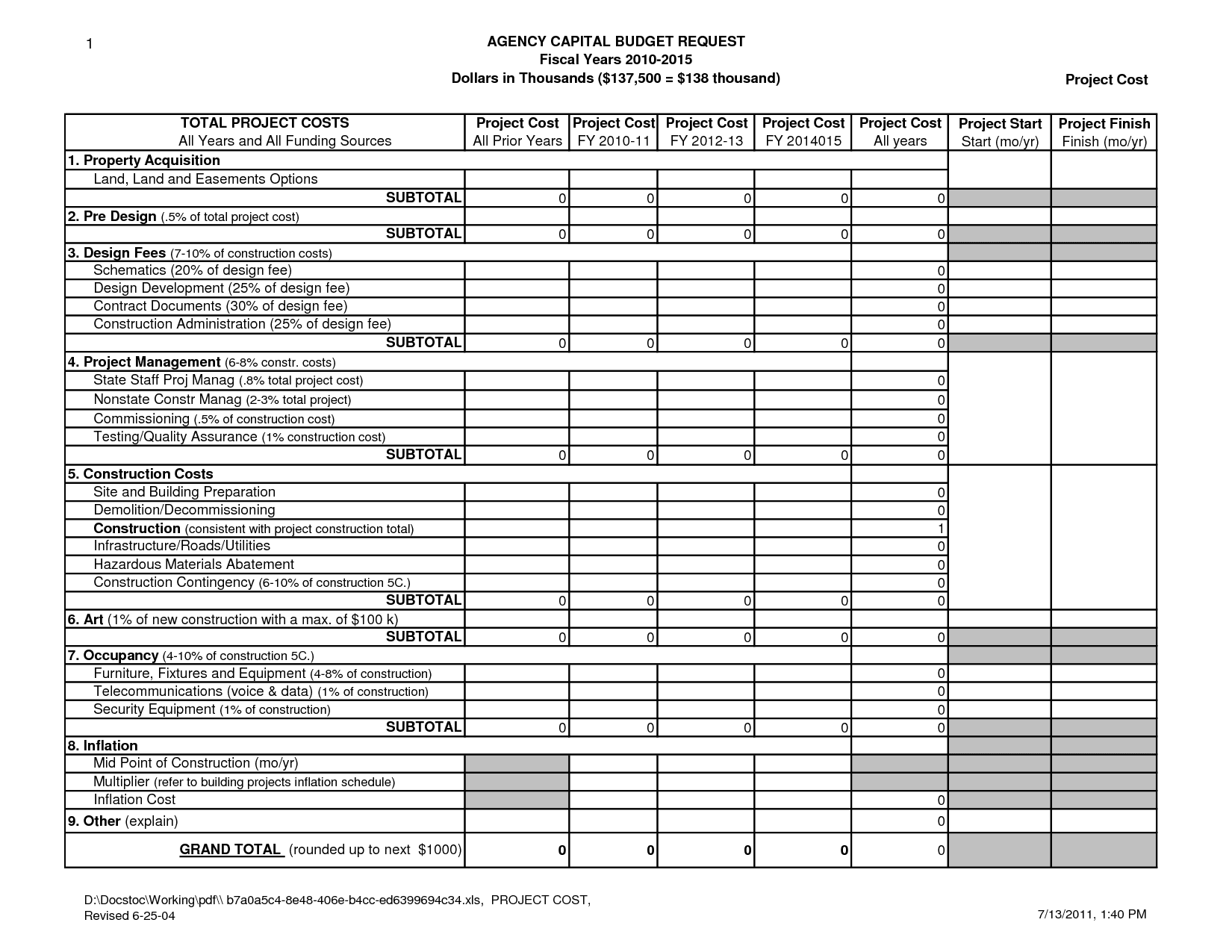 Free Excel Project Management Spreadsheet