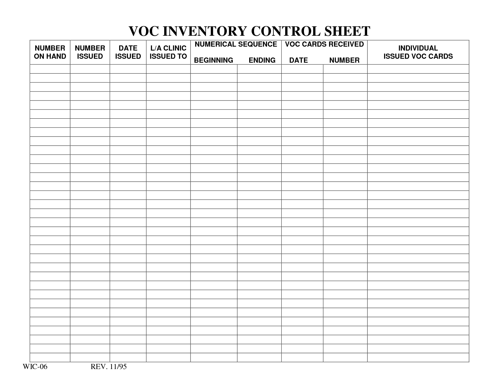 Inventory Tracking Spreadsheet Template