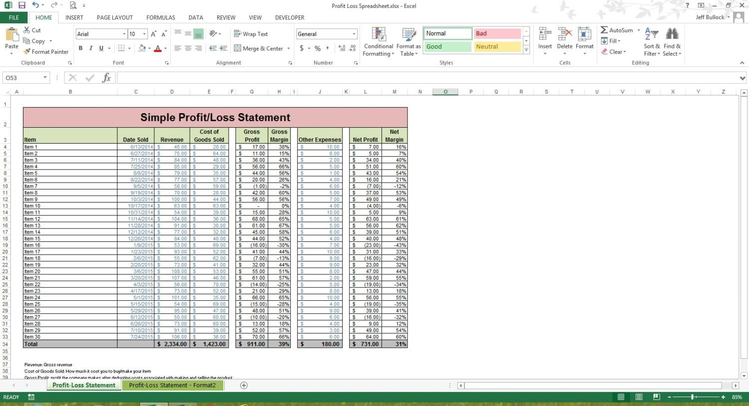 Bookkeeping Spreadsheet Template Bookkeeping Excel