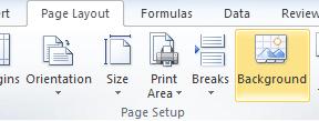 Excel Background Image