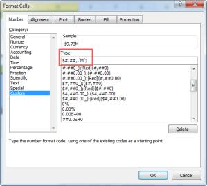Custom Format Excel Cells