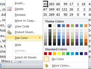 Excel Tip Tab Color