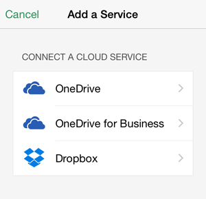 Excel App Add Cloud Service