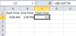 Subtracting Time in Excel