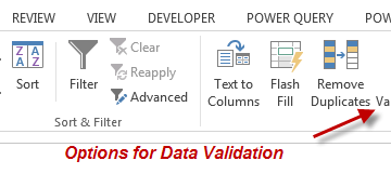 MS Excel Data Validation for Accountants