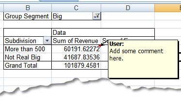 How to Annotate an Excel Pivot Table - Excel Zoom