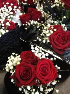 Purse centrepieces floral Copyright Shelagh Donnelly