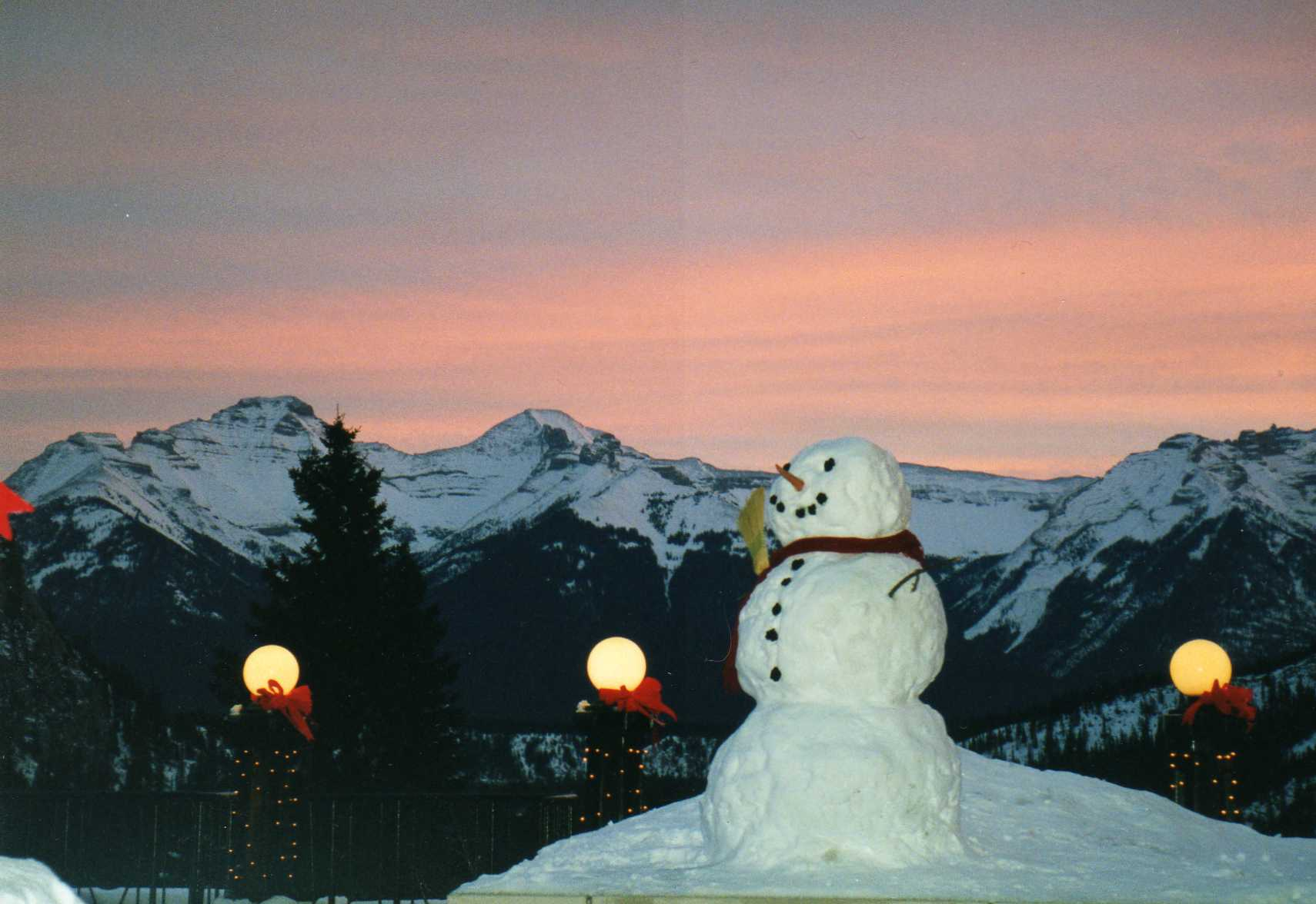 rocky mountain snowman Copyright Shelagh Donnelly