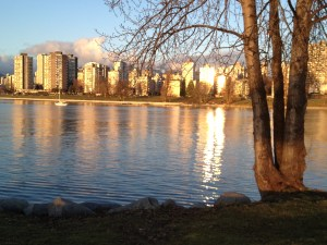 the back-to-calm waters of English Bay, from Kits Point