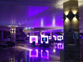 the lobby by night