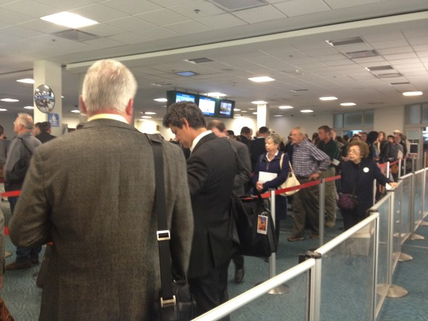Airport Lineups Copyright Shelagh Donnelly