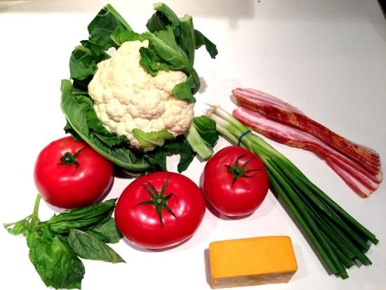Cauliflower Casserole Ingredients Copyright Shelagh Donnelly