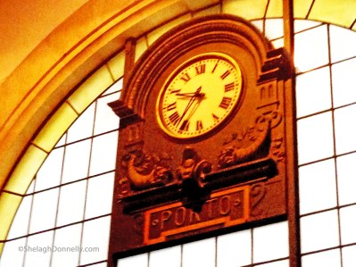 Porto Train Station Clock Copyright Shelagh Donnelly