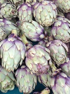Artichokes Paris' Marché d'Aligre Copyright Shelagh Donnelly