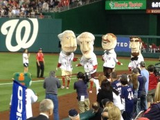 Nats Mascots Presidents' Race