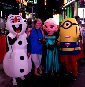 Shelagh & Characters on Broadway NYC