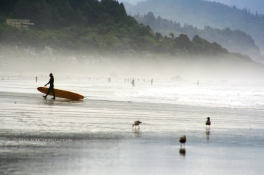 Cannon Beach Surfer 15-6339 Copyright Shelagh Donnelly