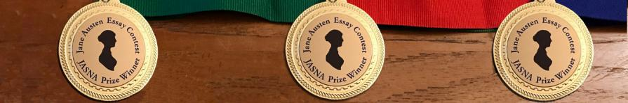 Image of the medals for the JASNA essay contest