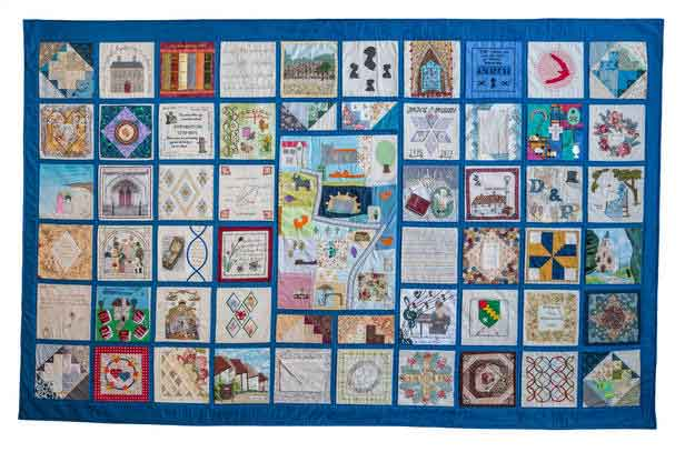 Image of one of the Jane Austen community quilts
