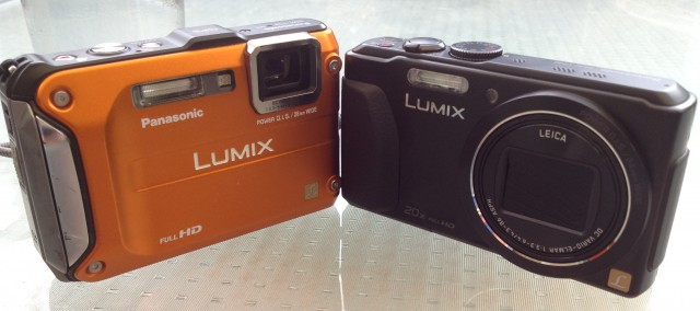 The 2011 Lumix DMC-FT3 with the 2013 Lumix DMC-TZ40