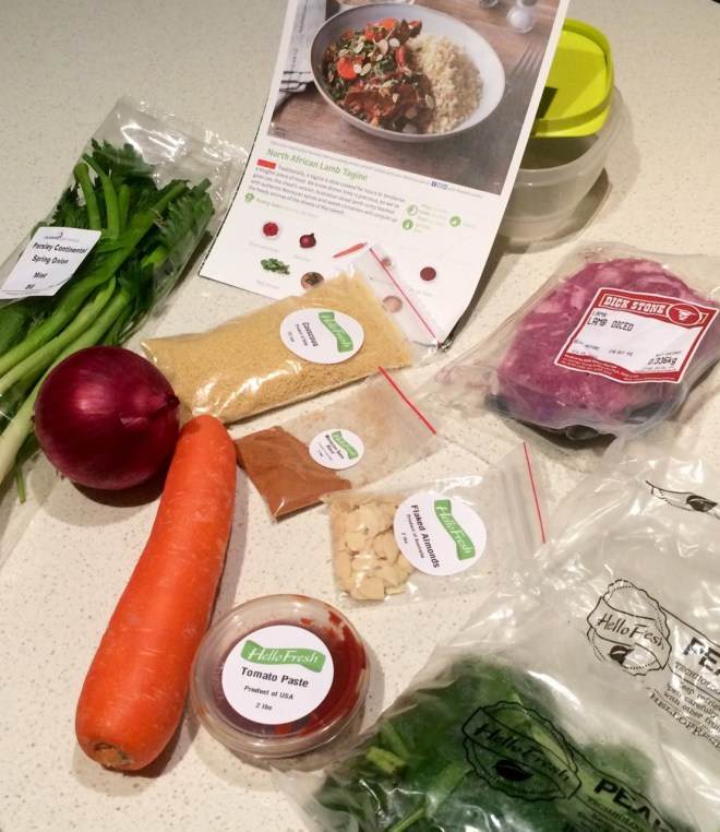 HelloFresh - Lamb Tagine Ingredients