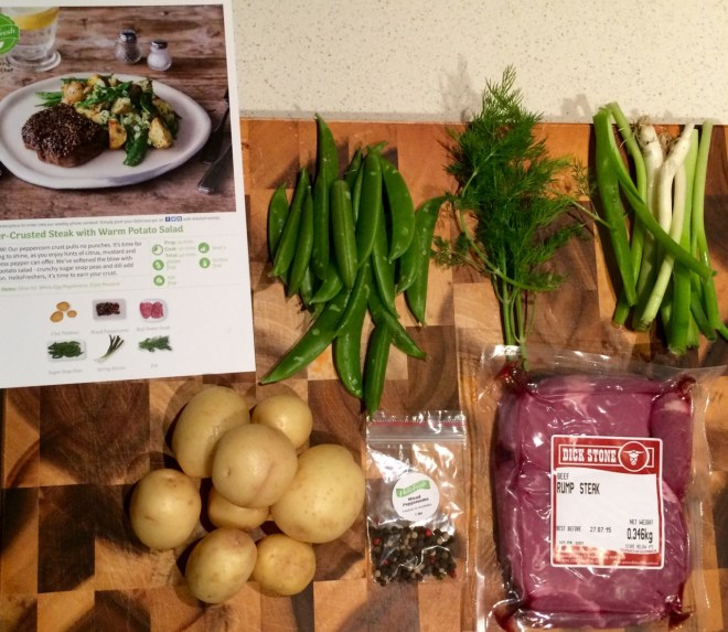 HelloFresh - Pepper Crusted Steak & Warm Potato Salad Ingredients