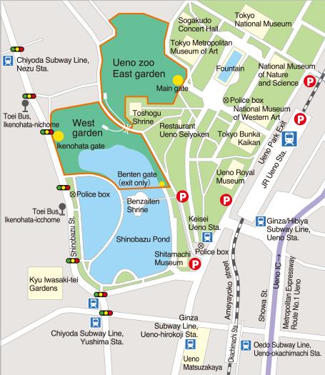 Getting to Ueno Zoo
