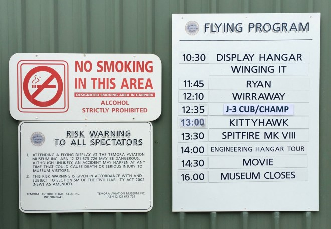 Flying Day Schedule