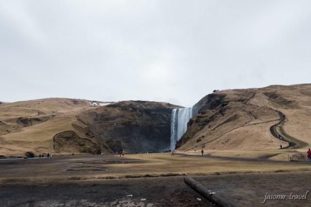 冰島 Iceland Skógafoss 瀑布