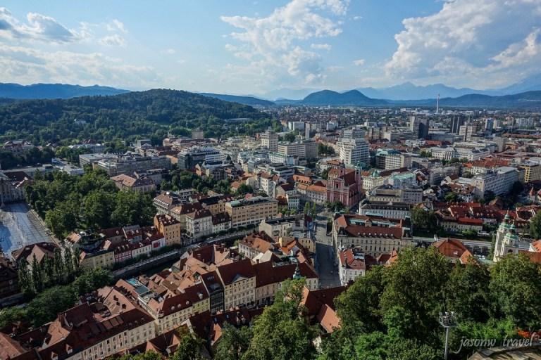 Ljubljana bird view 盧比安納 盧布爾雅那鳥瞰