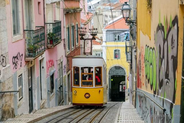 里斯本比卡纜車 Elevador da Bica (Bica Funicular), Lisbon