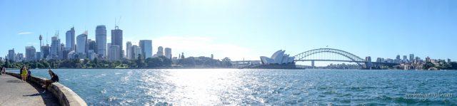 悉尼港與悉尼市中心全景 Panorama of Sydney Harbour and Sydney CBD