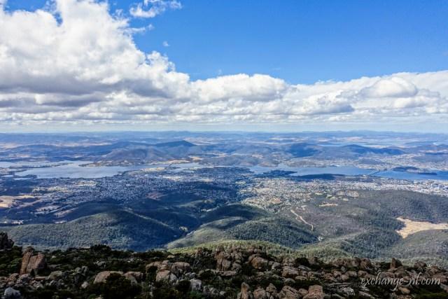 威靈頓山頂荷伯特景色 View of Hobart from top of Mount Wellington