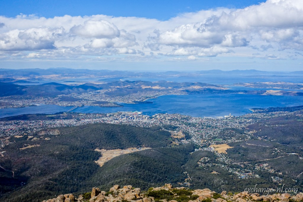 威靈頓山頂荷伯特景色 View of Hobart from top of Mount Wellington