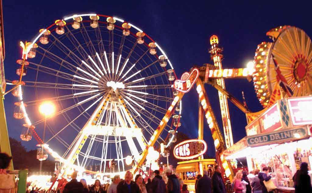 A modern view of Nottingham Goose Fair - photo from the University of Nottingham