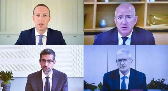 US Congress accuses Zuckerberg, Bezos, Cook, Pichai of crippling ...